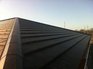 modernes Dach am Passivhaus