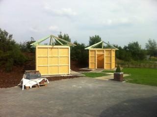 Pavillon, Muster, Passivhaus, Steine